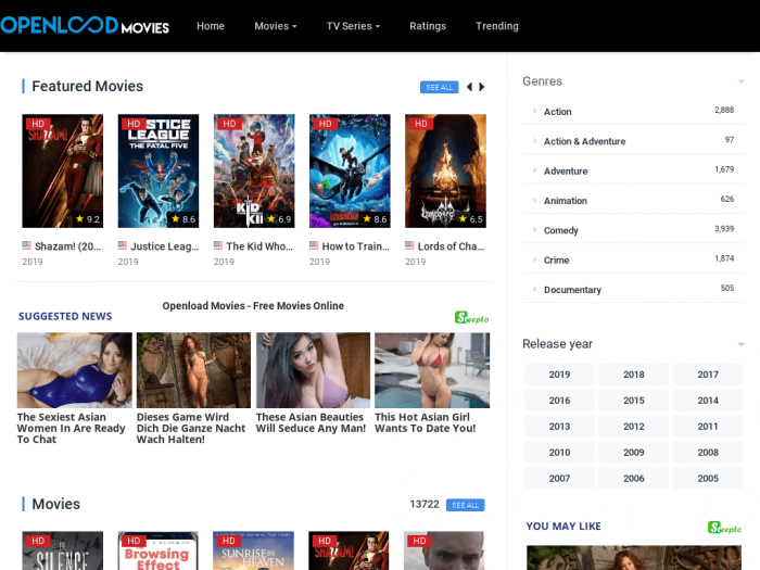 Open Load Movies site