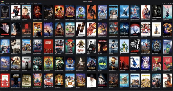 Popcorn time for Windows, iOS, Android